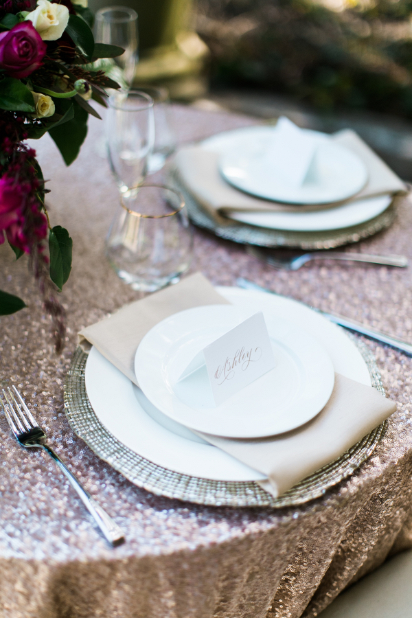 Glam place setting