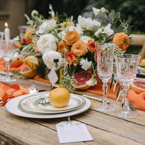 Rustic Tablescape with Citrus Elements