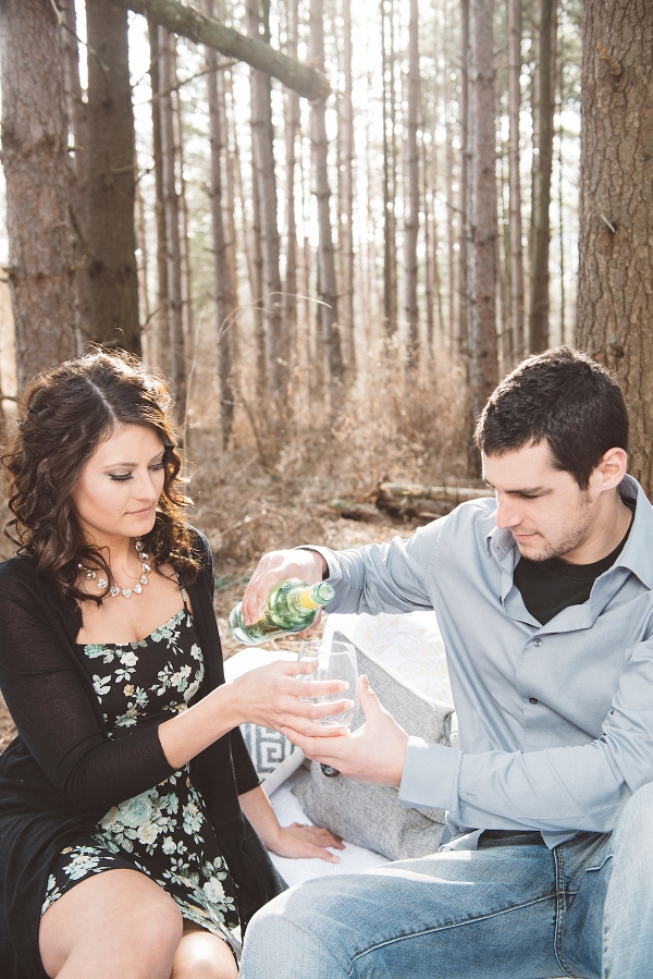 Picnic Engagement Shoot in the Woods