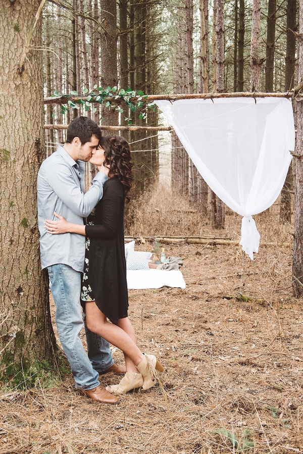 Styled Engagement Shoot in the Woods