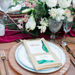 Romantic modern place setting