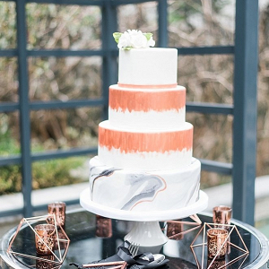 Copper and marble cake
