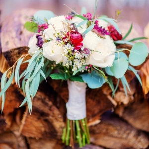 Winter Bouquet on Firewood