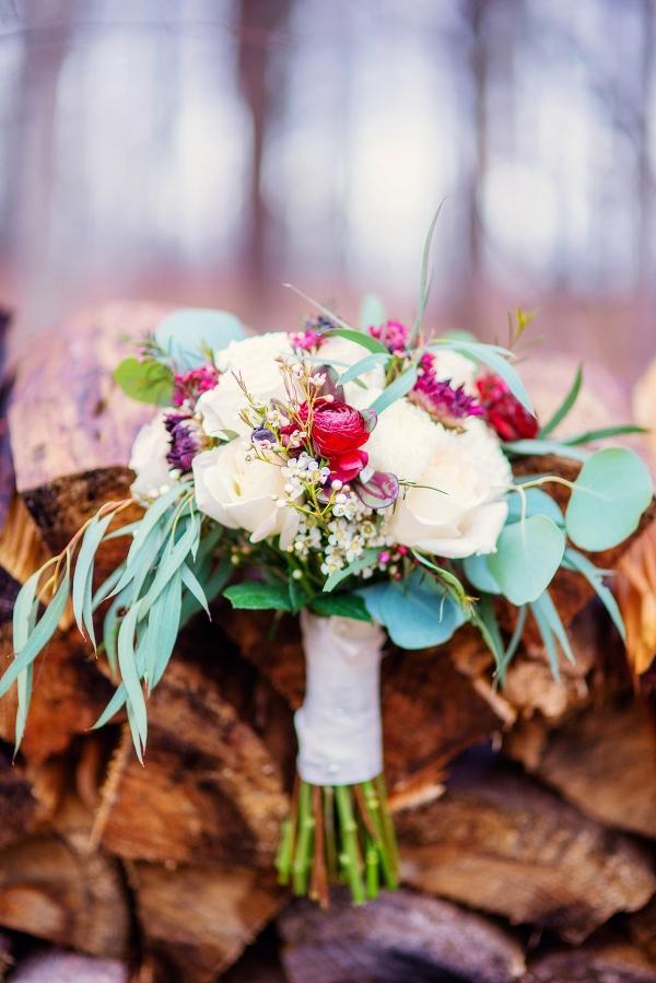 Winter Bouquet on Firewood