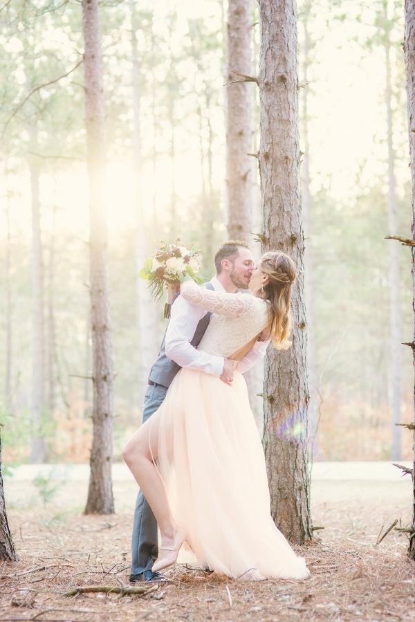 Woodsy Winter Bridal Portrait