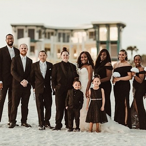 Black bridal party