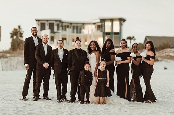 Black bridal party