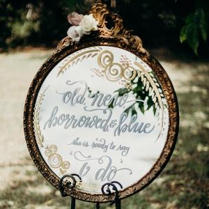 Vintage mirror signage
