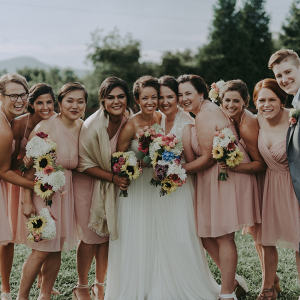 Summery bridal party