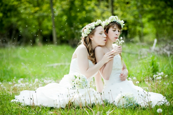 Bridal Portraits in a Meadow