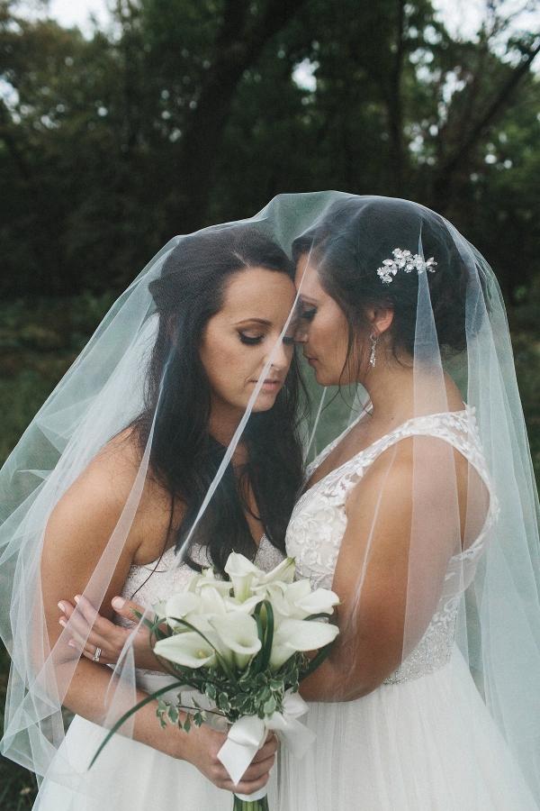 Two brides portrait
