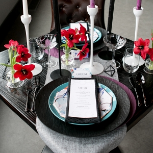 Masculine Sweetheart Tablescape