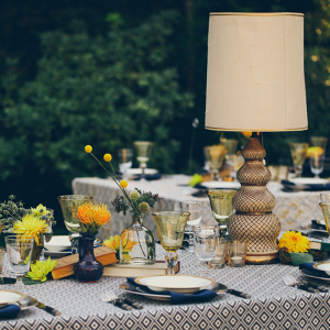 Lamp centerpieces for wedding