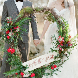 Large wedding wreath