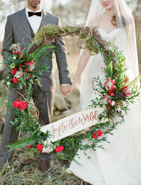 Large wedding wreath