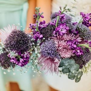Purple Chrysanthemum Bouquet