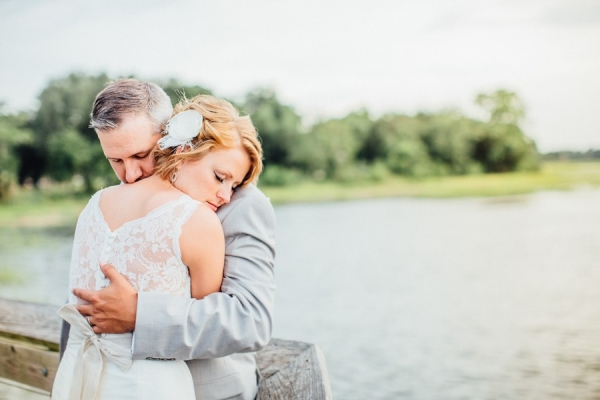 Lace Back Wedding Dress with Sara Gabriel Belt