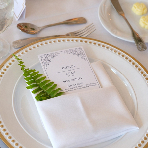 Simple elegant place setting