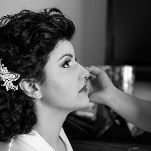 Bridal Hair and Makeup Getting Ready Portrait - Airbrush Makeup Wedding Tips and Advice