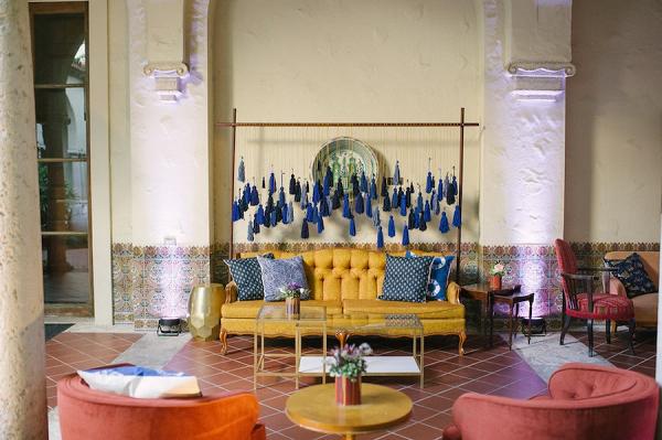 Tassel reception decor