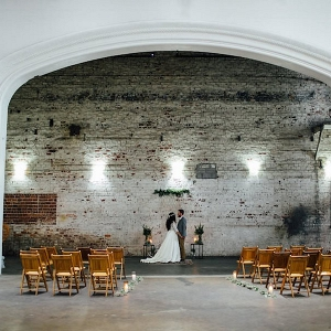Indoor, Industrial Bohemian-Nature Inspired Wedding Ceremony