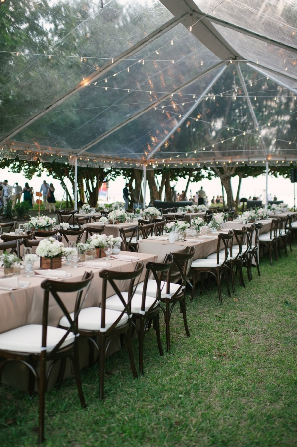 Romantic, Vintage Outdoor Tented Wedding Reception