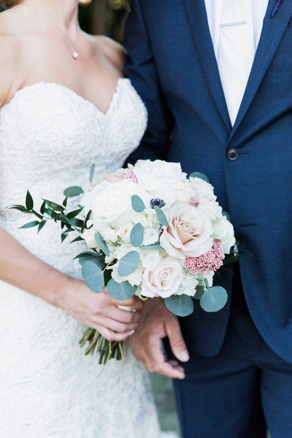 Classic white and blush bouquet
