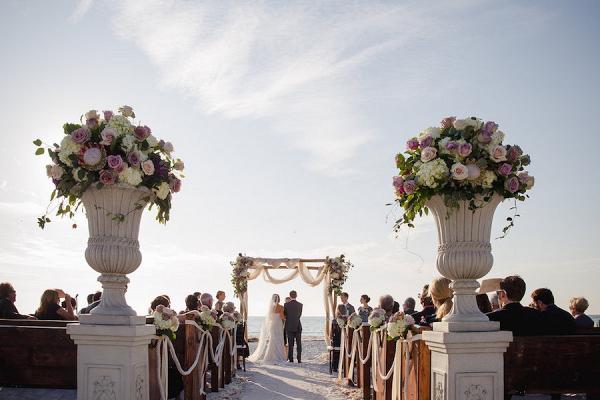 Elegant beach ceremony