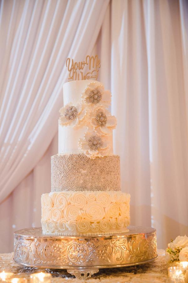 Glam white cake