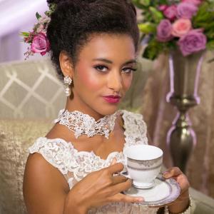 Marie Antoinette inspired bride