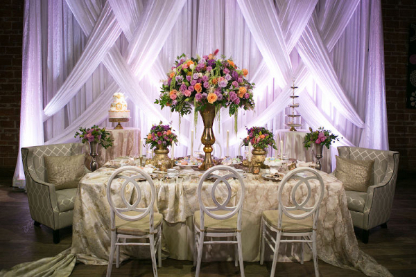 Opulent reception table