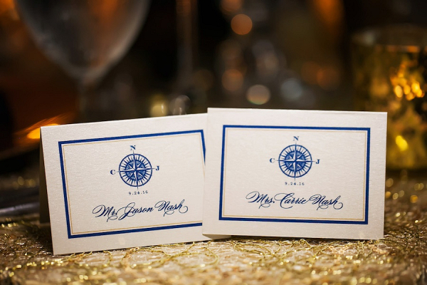 Nautical themed place cards