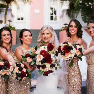 Glam gold bridesmaids