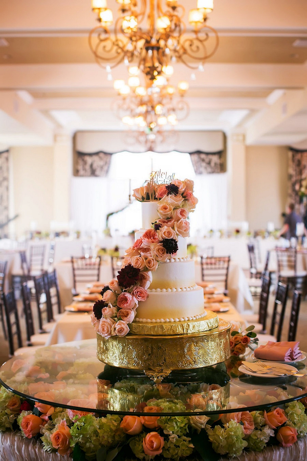 Cake covered in pink florals