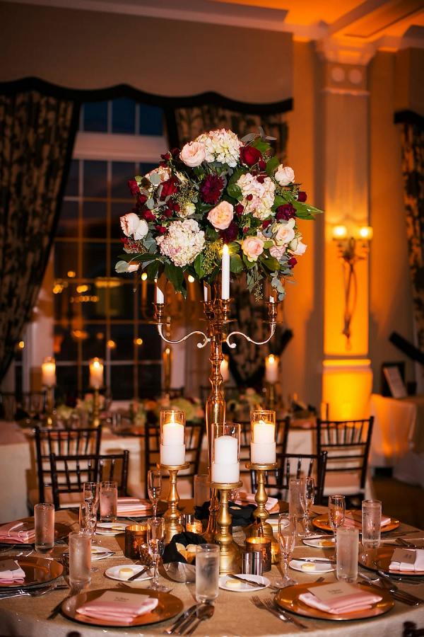 Glam candelabra centerpieces