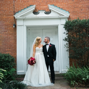 Bride and Groom Outdoor Wedding Portrait