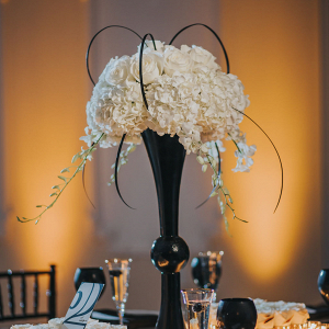 Black and white centerpiece