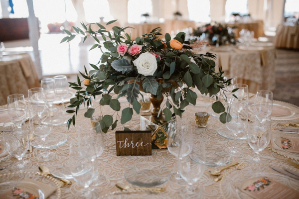 Greenery overflowing centerpiece