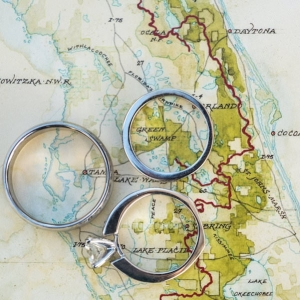 Florida Map with Wedding and Engagement Rings
