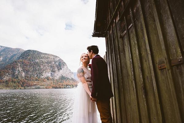 Austrian elopement Mountainside Bride