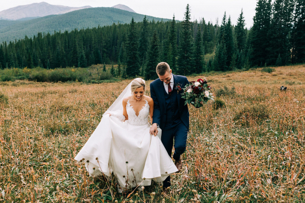 Autumn mountain wedding at Breckinridge ski resort