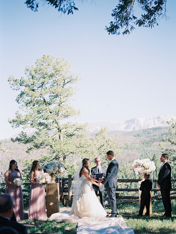Romantic mountain ceremony