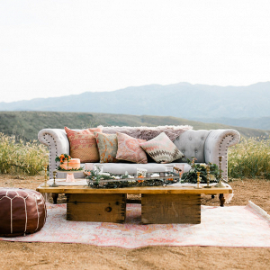 Bohemian desert seating area