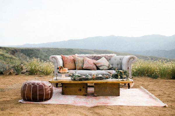 Bohemian desert seating area
