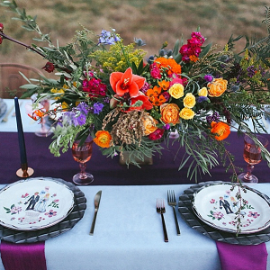 Boho reception table