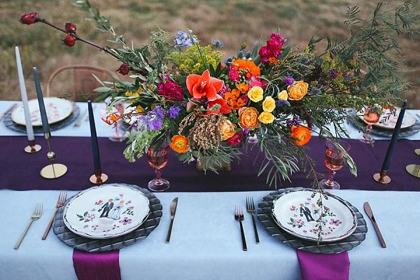 Boho reception table