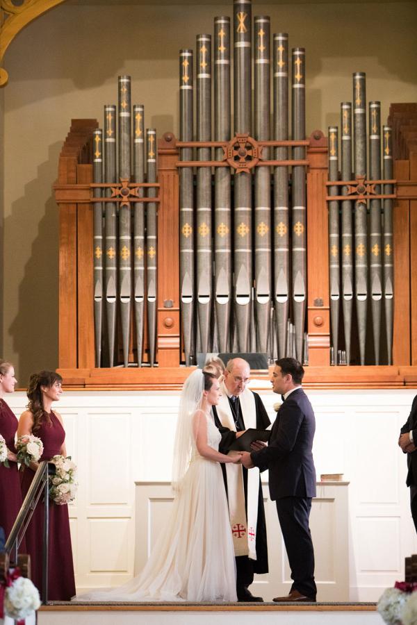 Vermont church wedding ceremony