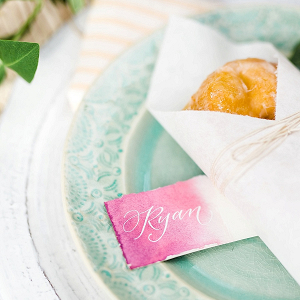 Doughnut place setting