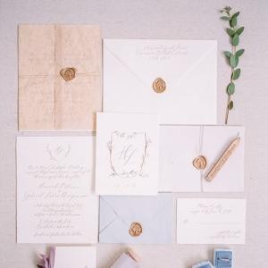 Romantic Calligraphy | Emerald Lake Canadian Mountain Wedding Inspiration