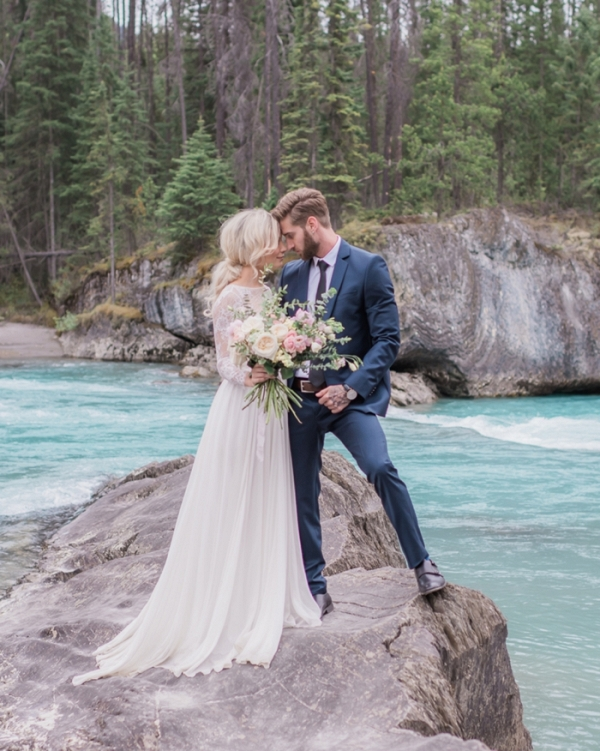 Emerald Lake Canadian Rocky Mountain Wedding Inspiration